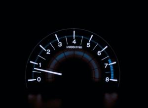 Bild einer Geschwindigkeitsanzeige