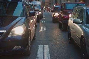 Bild von Stau auf der Straße